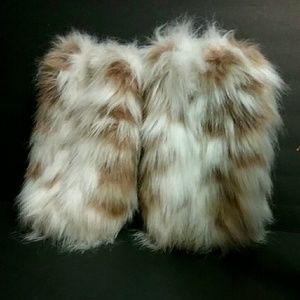 Other - FAUX FUR LEG WARMERS